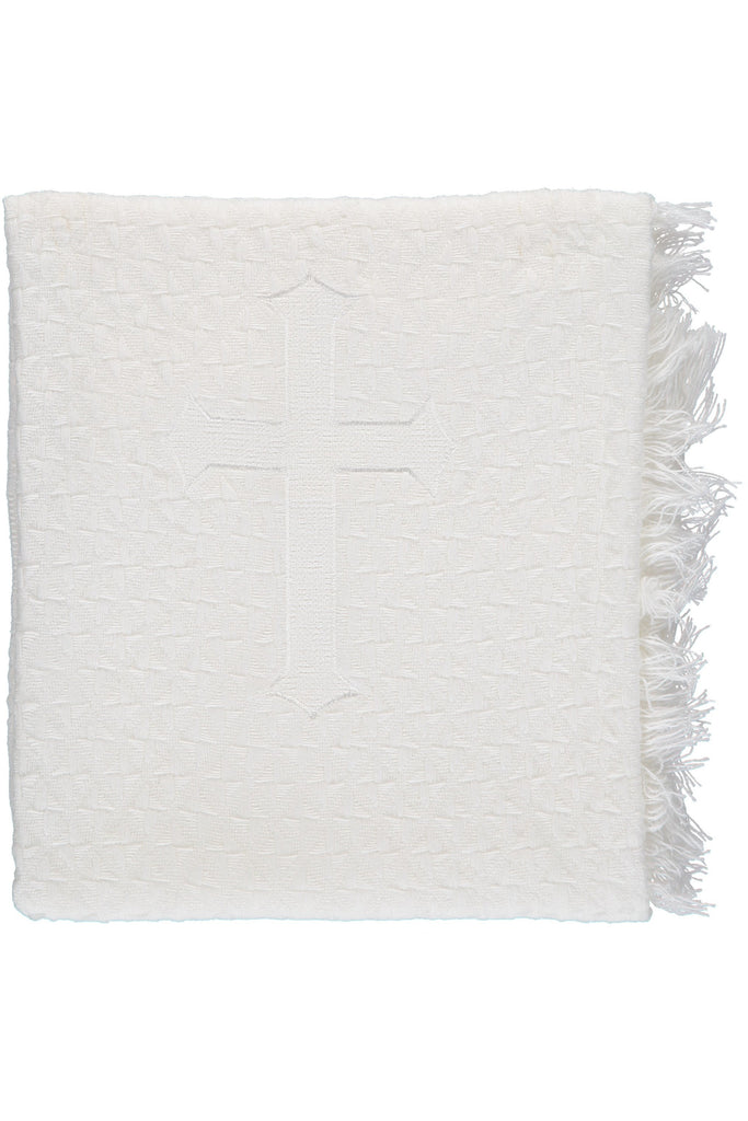Julius Berger Center Cross Blanket [product_tags] - Carriage Boutique