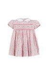 Yoke Dress Pink Floral Hand Smocked