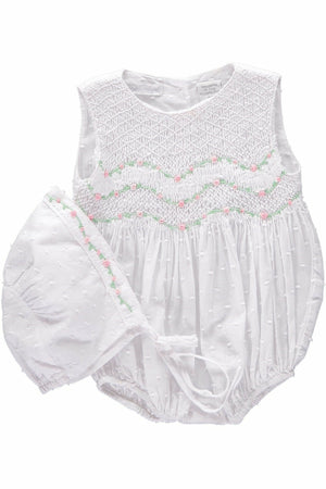 Hand Smocked Bubble With Bonnet