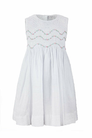 Hand Smocked White Dress