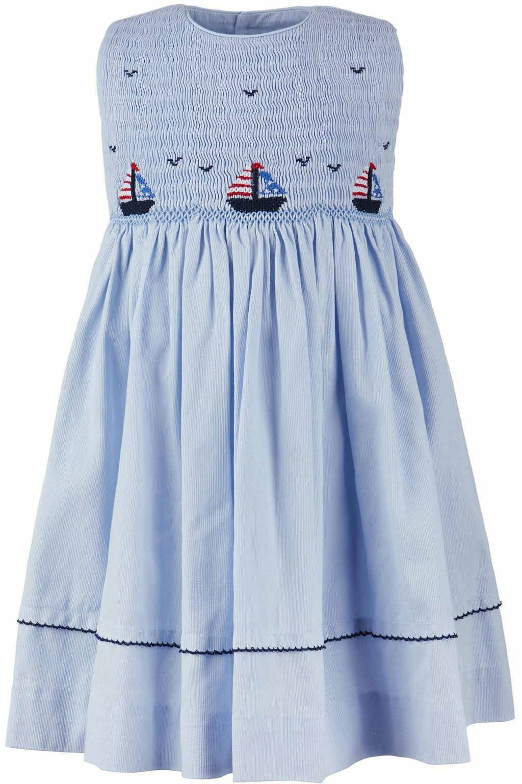 Hand Smocked Sail Boats Dress