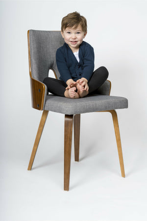 Navy Cotton Cashmere Boy Cardigan