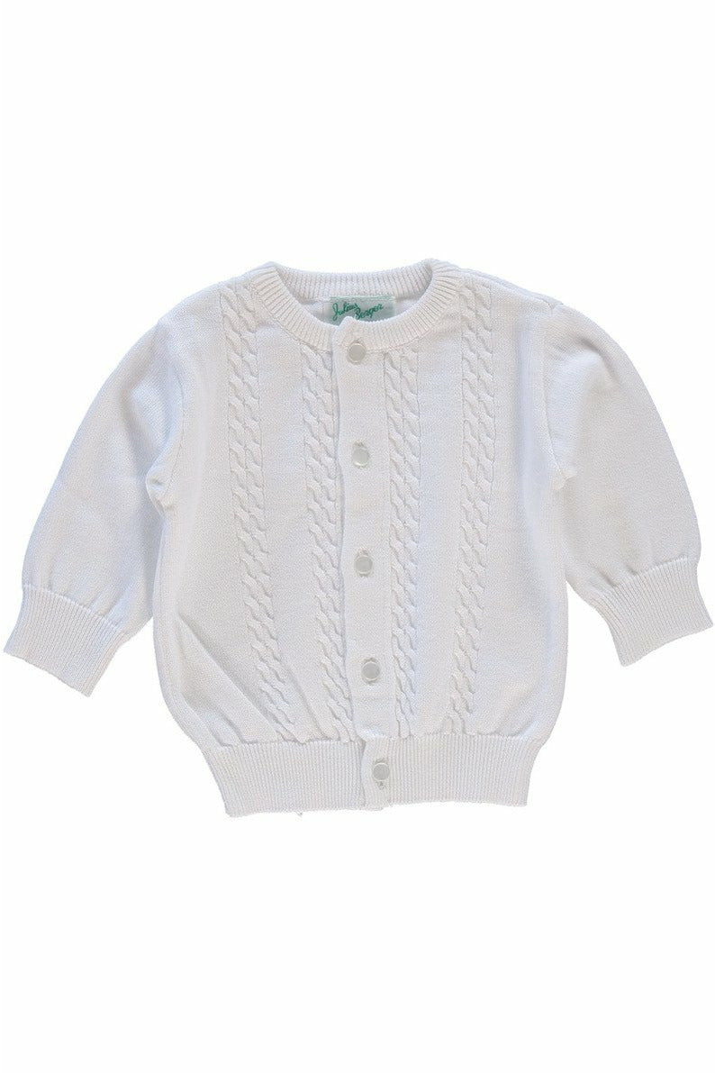 Cable Cotton Cashmere  Boy Cardigan