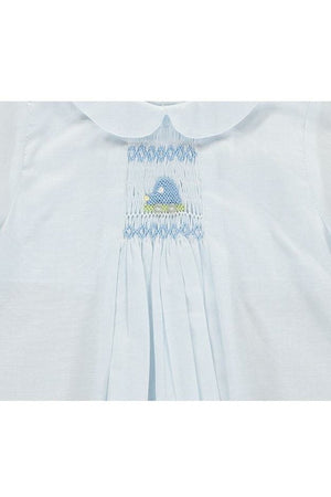 Carriage Boutique Baby Boys One Size Only Day Gown and Hat - Car Smocking - Blue, Newborn [product_tags] - Carriage Boutique