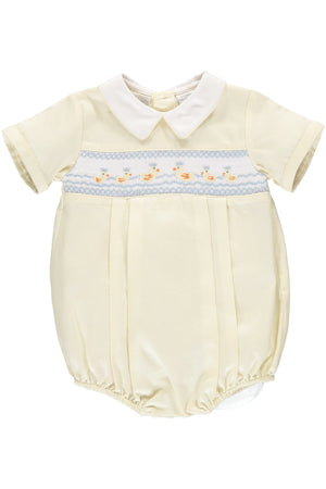 Baby boys Smocked Ducks Creeper [product_tags] creeper- Carriage Boutique
