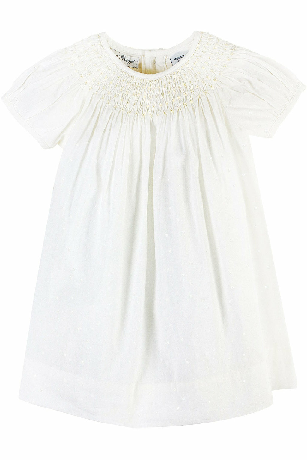 Baby Girls Classic Christening Bishop Dress & Bonnet - Cream