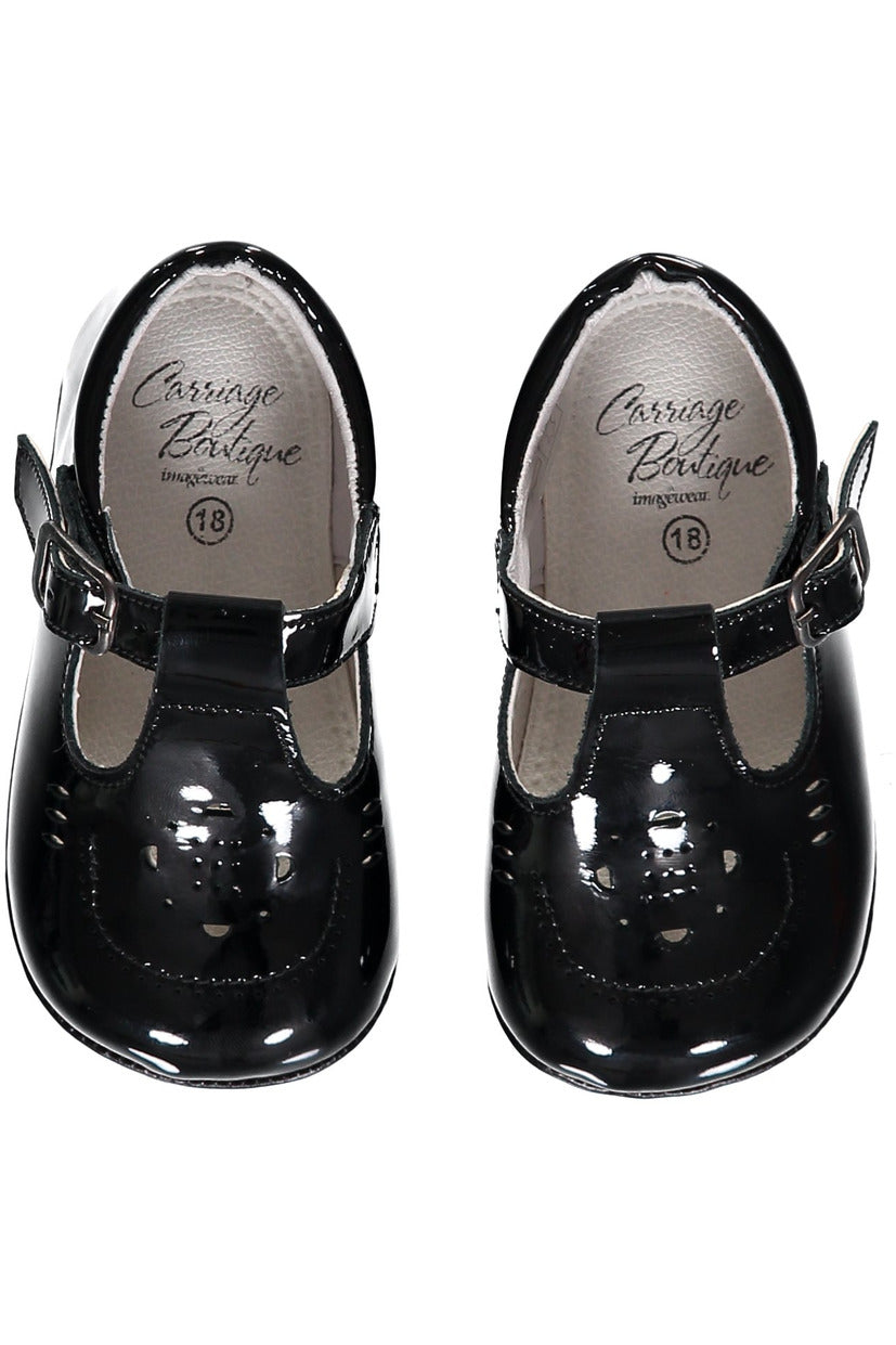 Baby Girl Black Soft Sole Shoes [product_tags] shoes- Carriage Boutique