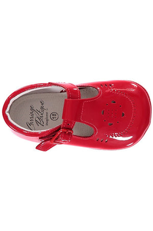 Baby Girl Red Soft Sole Shoes [product_tags] shoes- Carriage Boutique