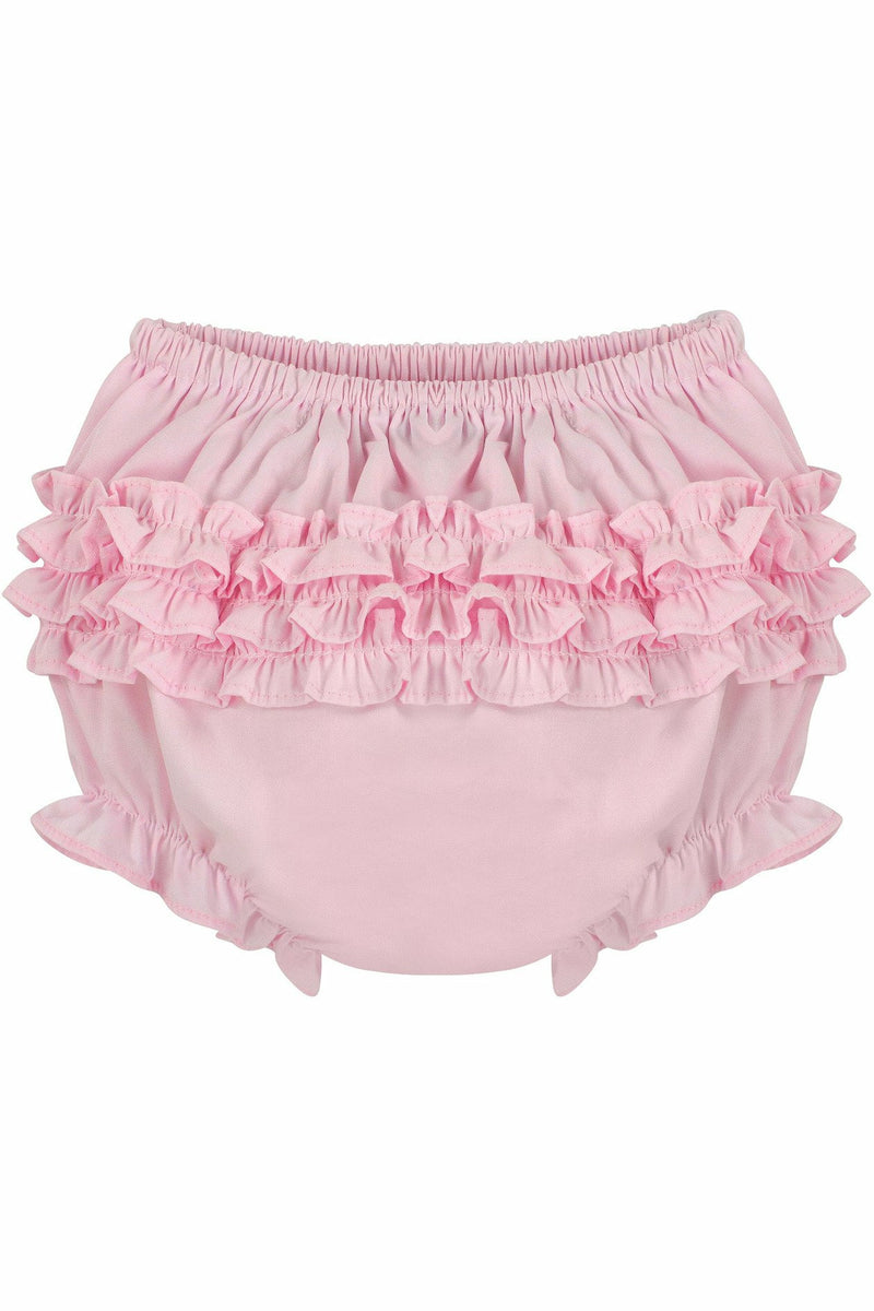 Baby Girls Ruffle Diaper Covers - Pink Bloomers
