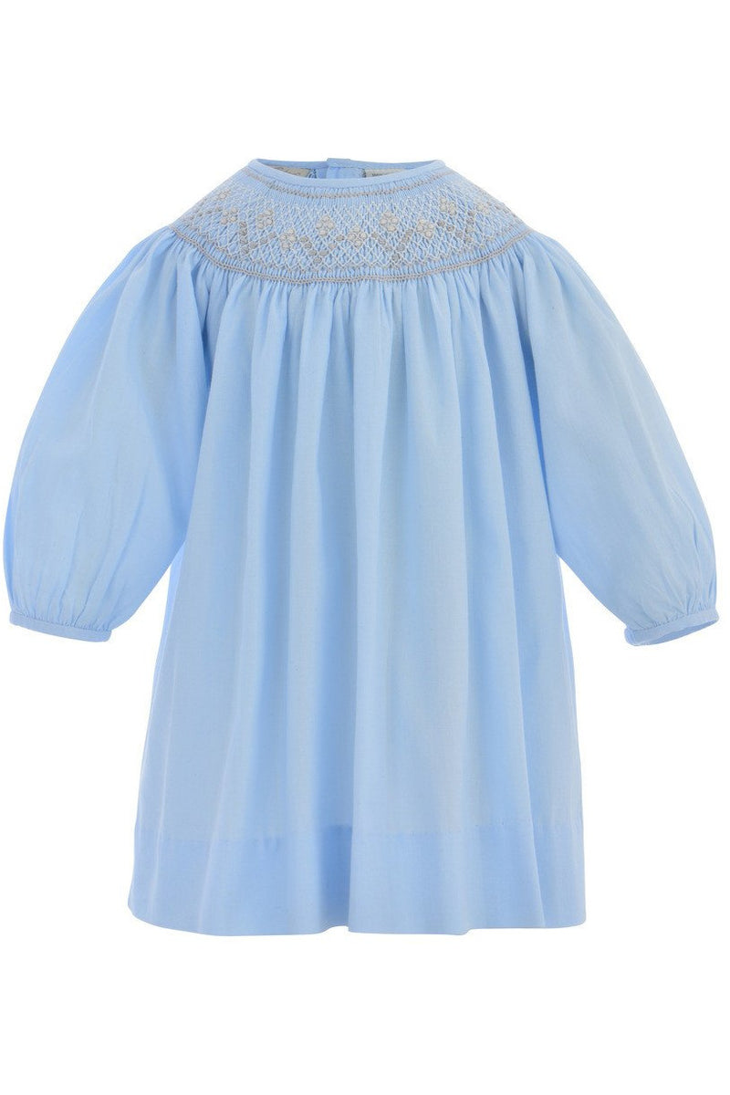 Baby Girl Long Sleeve Bishop Dress - Pastel Blue [product_tags] - Carriage Boutique
