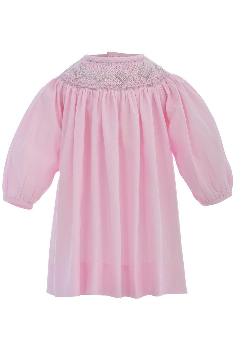 Baby Girl Long Sleeve Bishop Dress - Pastel Pink [product_tags] - Carriage Boutique