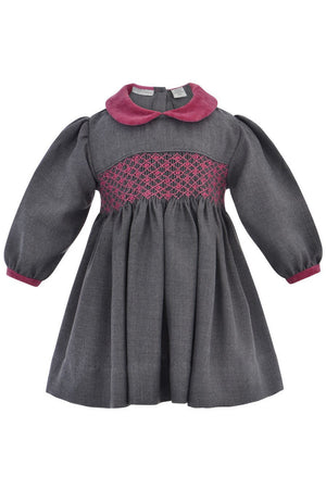 Baby Girls Long Sleeve Hand Smocked Dress [product_tags] - Carriage Boutique