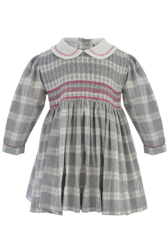 Baby Girls Plaid Long Sleeve Hand Smocked Dress [product_tags] - Carriage Boutique
