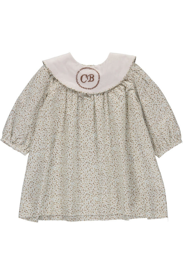 Baby Girls Green Floral Monogram Blank Dress [product_tags] - Carriage Boutique