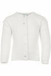 Personalized Cotton Cashmere Girl Cardigan White