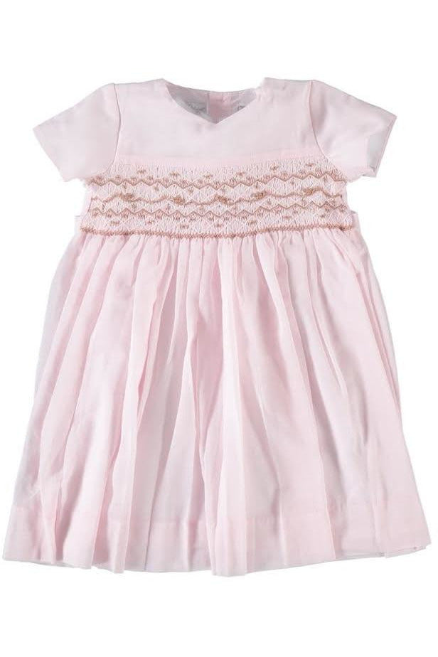 Baby Girl Pink Smocked Light Voile Dress [product_tags] dress- Carriage Boutique