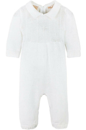 Baby Boy's Christening Outfit with Bonnet Hat - Cross Detail