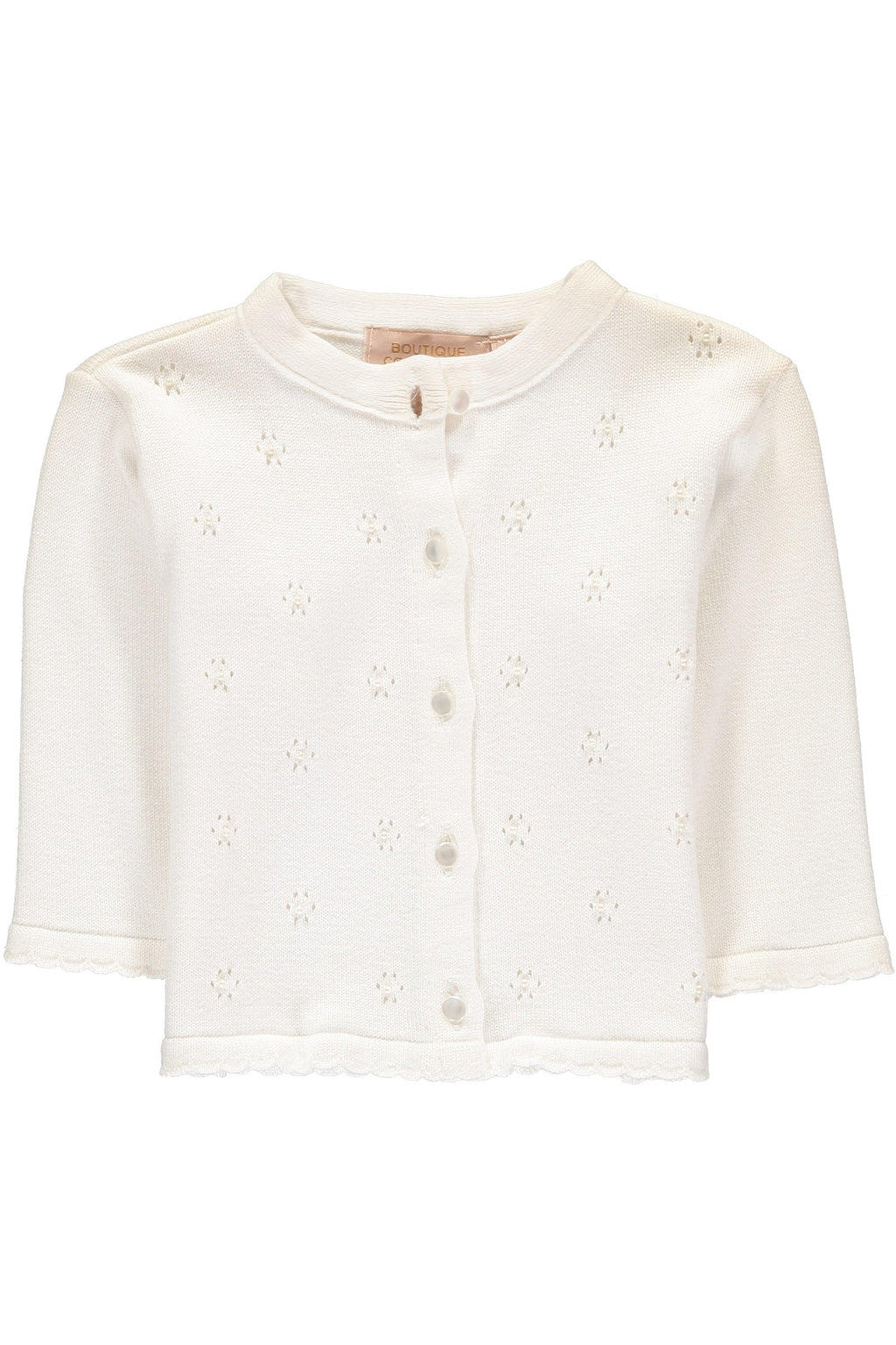 Baby Girl Soft Knit Cardigan - Ivory Spring Sweater [product_tags] - Carriage Boutique