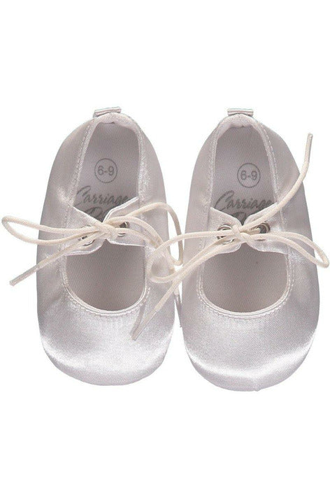 Baby Boys Christening/Baptism Shoes Leather Soft Soles with Shoelace Bow