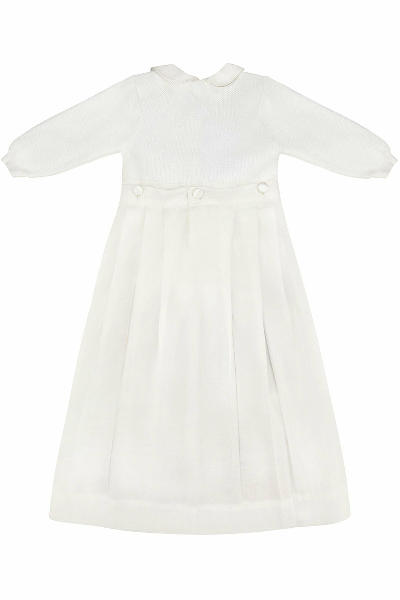 Pebble Stitch  Christening Gown with Removable Skirt