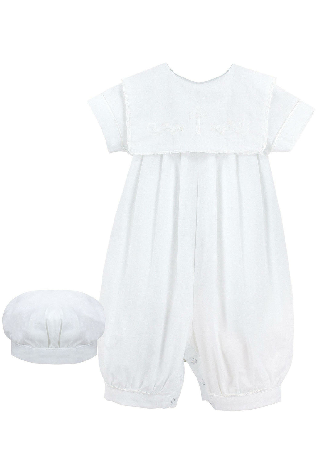 Baby Girls Christening Bubble Longall with Matching Hat - Shadow Stitching