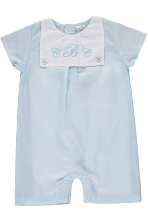 Baby Boys Monogram Blank Shortall [product_tags] shortall- Carriage Boutique