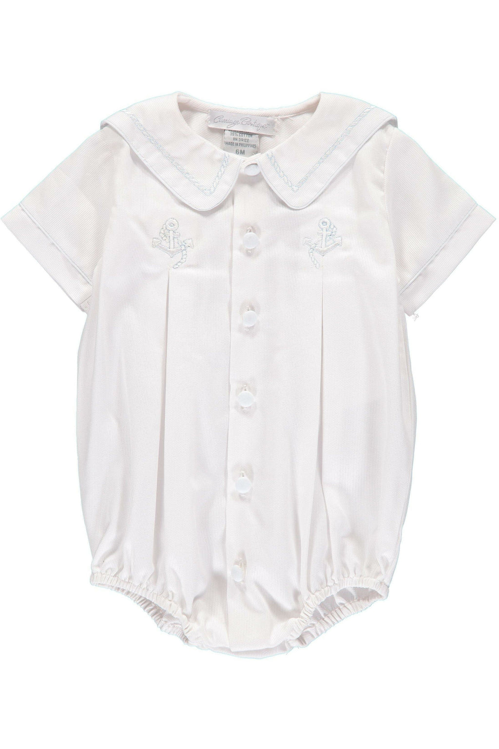 Baby Boy White Anchor Creeper, , Carriage Boutique, Imagewear