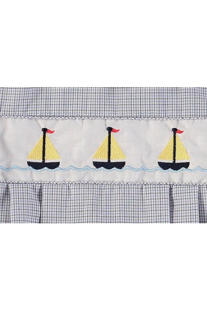 Plaid Nautical Creeper [product_tags] - Carriage Boutique