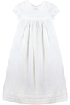 Baby White Tucks and Trim Gown + Bonnet, , Carriage Boutique, Imagewear