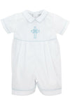 Baby Boys Christening  Embroidered  Cross  Shortall