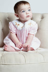 Baby Girl Pink Horse Bishop Dress [product_tags] dress- Carriage Boutique