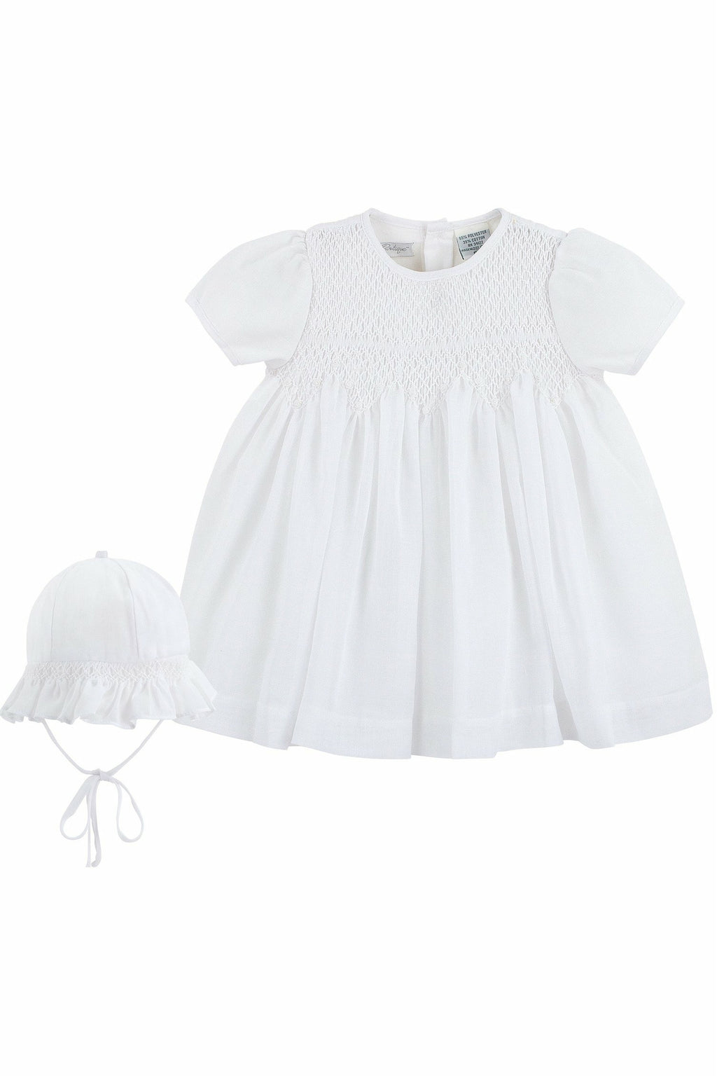 Baby Girl Special Occasion Voile Dress + Bonnet