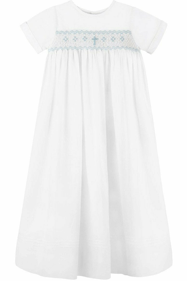 Baby Boys Long Bullion Cross Gown + Bonnet, , Carriage Boutique, Imagewear