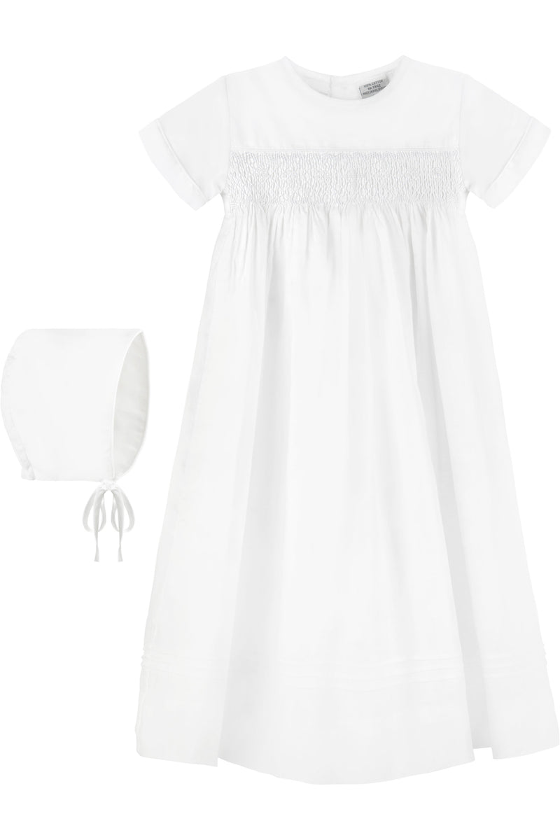 Baby White Bullion Cross Gown, , Carriage Boutique, Imagewear