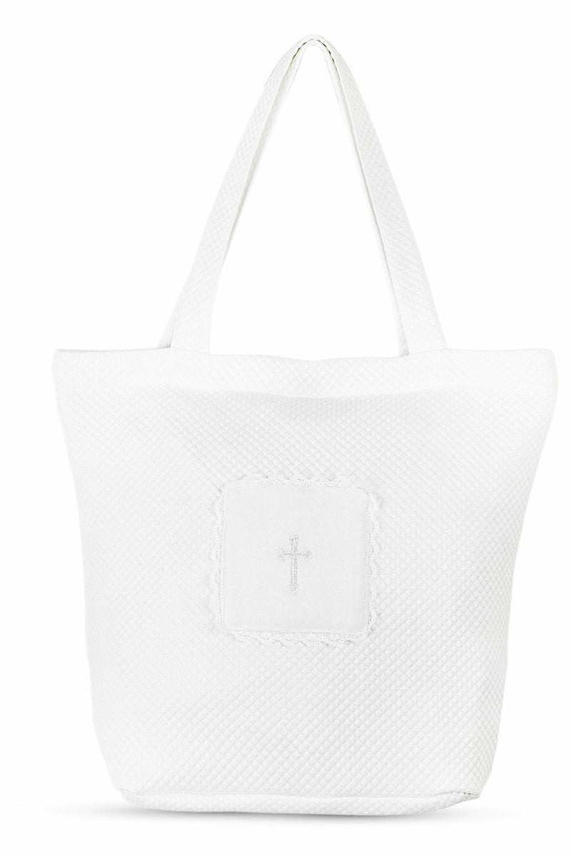 Christening Keepsake Cross Tote Bag