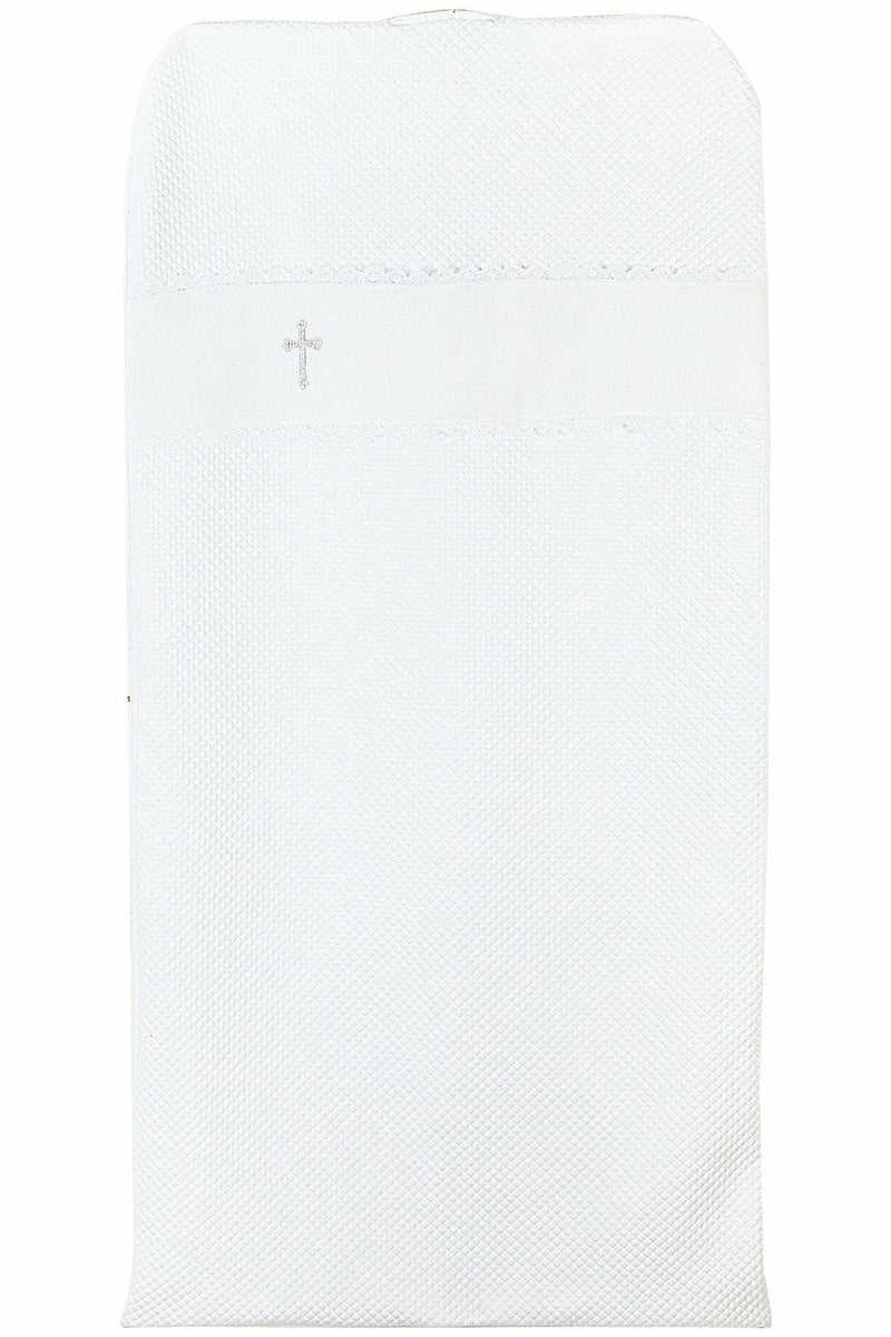 Christening Keepsake Cross Garment Bag