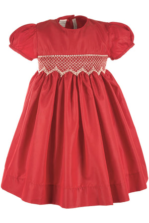 Elegant Taffeta Red Short Sleeve Dress [product_tags] - Carriage Boutique