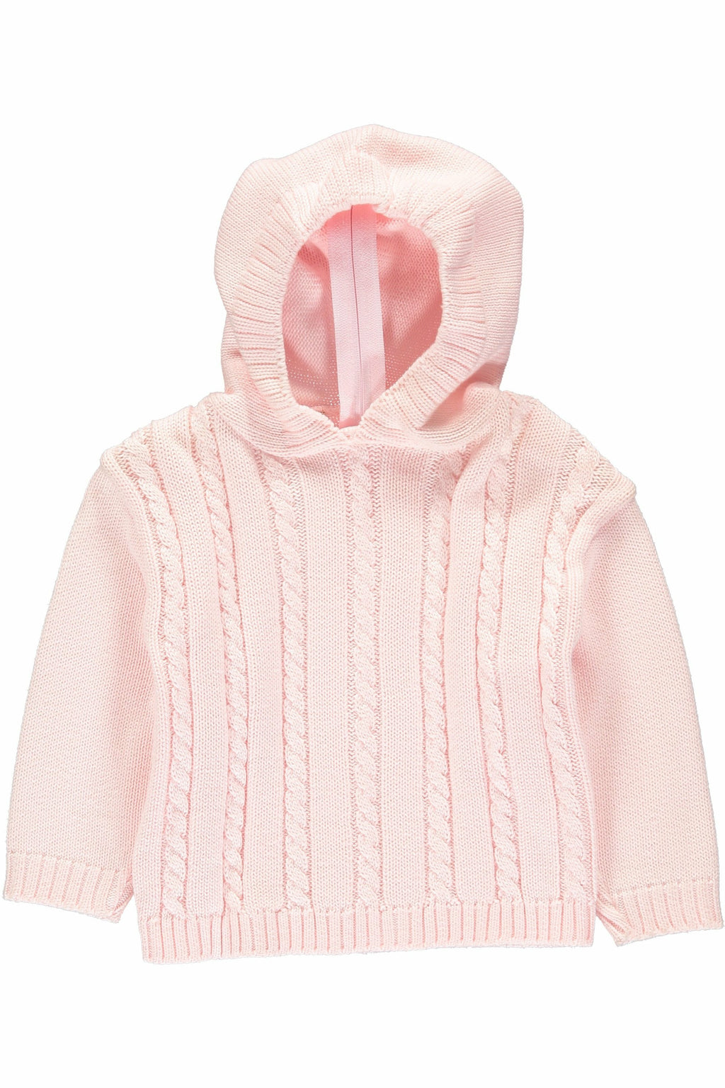 Pink Cable Zip Back Sweater