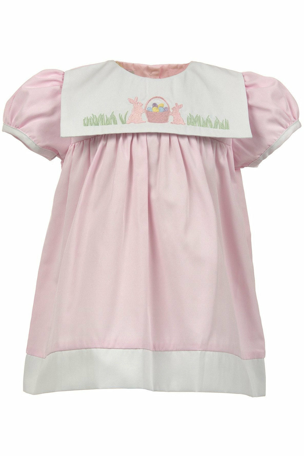 Carriage Boutique Girls Easter Dress - Pink with Easter Bunnies