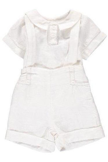 Baby Boys Linen Outfit with Suspenders [product_tags] - Carriage Boutique