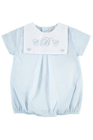 Baby Boys Monogram Blank Creeper