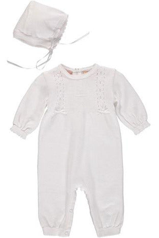 Baby Girls Christening/Baptism Cross Outfit - Ribbons and Pearls [product_tags] - Carriage Boutique