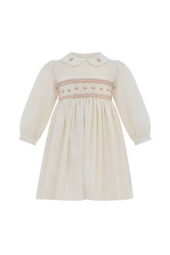 Baby Girls Long Sleeve Embroidered Dress
