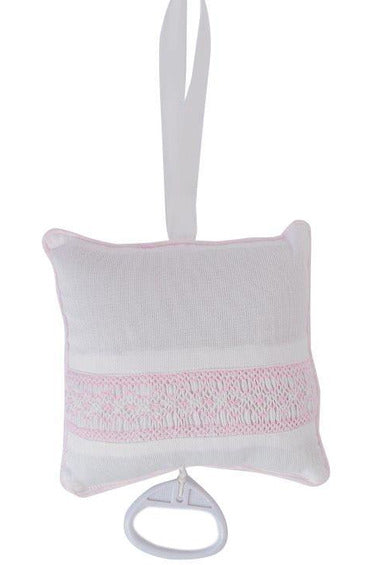 Baby Hand Smocked Musical Pillow - Pink