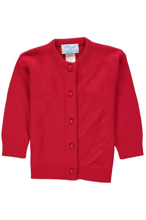 Cotton Cashmere  Girl Cardigan Red