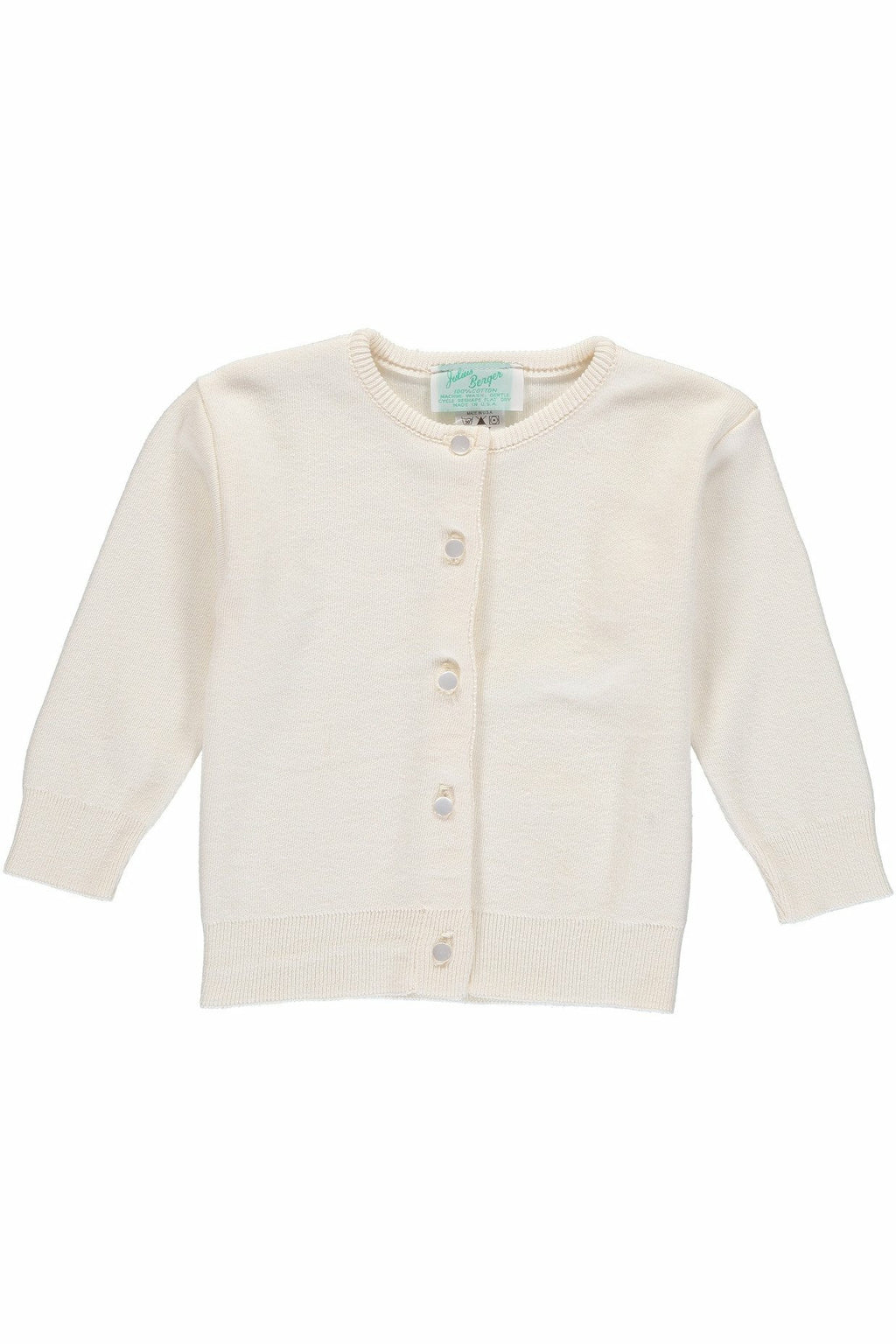 Cotton Cashmere  Girl Cardigan Ivory