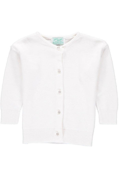 Cotton Cashmere Girl Cardigan White
