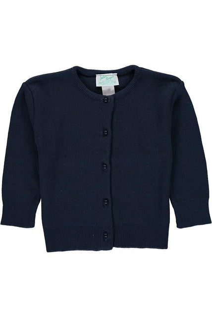 Cotton Cashmere Girl Navy Cardigan