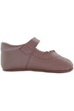 Baby Girl's Dressy Pink Leather Soft Sole Crib Shoes w/Bow, Size 15 EU/0 US INFANT [product_tags] - Carriage Boutique