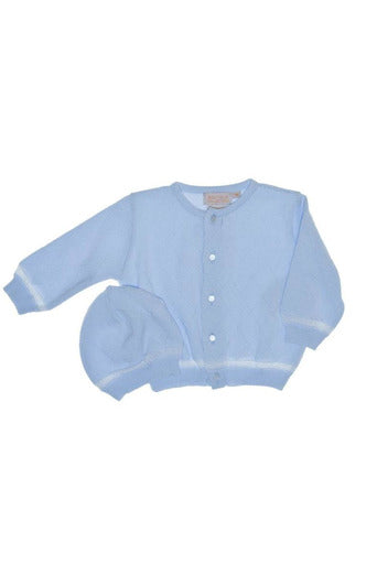 Diamond Sweater and Hat in Blue [product_tags] sweater- Carriage Boutique